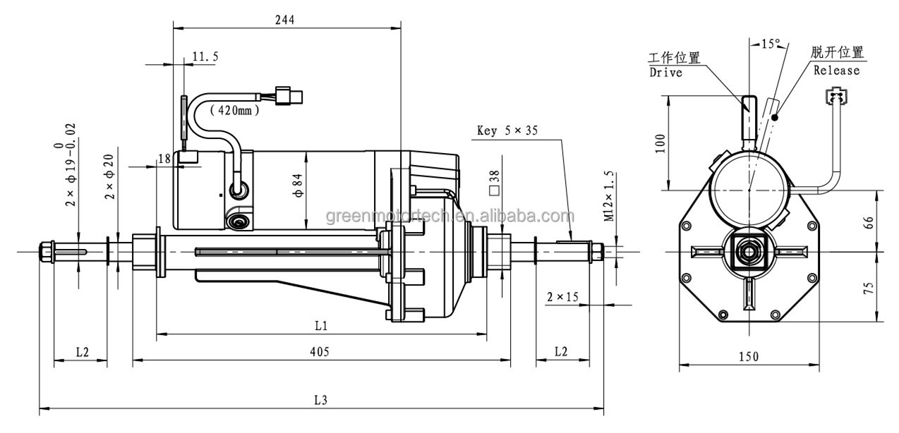 electric motor gearbox diagram