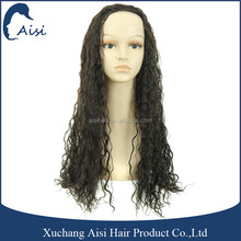 Hot sell long black 3/4 hair wigs afro kinky curly half wig