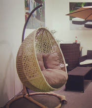 new AWRF5688 cheap hanging rattan egg chair for garden furniture from NINGBO supplier