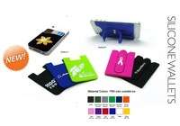 3M sticker silicone smart wallet,silicone phone wallet,card holder wallet