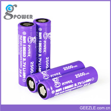 18650 high drain 18650 battery 18650 high discharge rate battery cells with flat top rechargeable bttery for led light