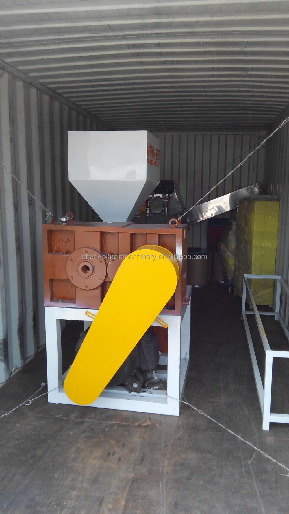 Double stage waste plastic granulator/ laizhou plastic recycling machinery production line