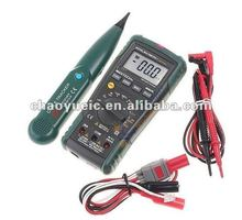 MASTECH MS8236 Auto Range Digital Multimeter + Network Cable Track Tester Wire Line Telephone Tracker