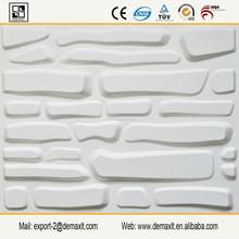 Textura fibra de planta decorativa del panel de pared 3D