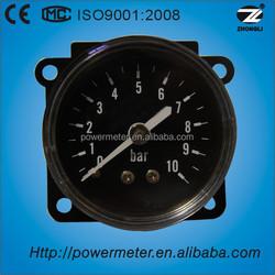 40mm/back type/bourdon tube/black steel pressure gauge manometer price