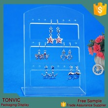 24 holes hanging earring jewelry display holder stand plastic clear color for wholesale