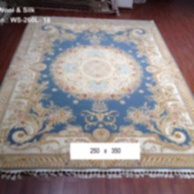 blue turkey ziegler tabriz carpet handmade oriental pakistan silk wool traditional rugs