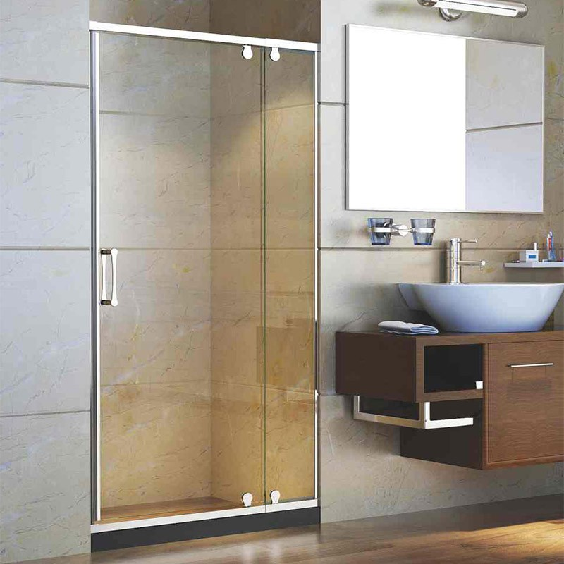 Simple Design Tempered Glass Door And Glass Partition Glass Shower