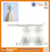 plastic bathroom accessories Strong suction cup with hooks
