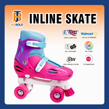 Top Fashion 4 Wheel Girls Quad Skates Shoe With Frame And Buckle JB1311