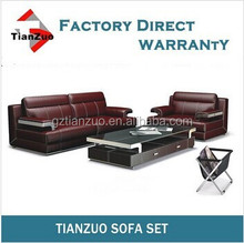 TZ-B70 italian style Brown PU Leather 2+1 Seater Sofa Suite