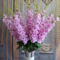 FL-DL115 GNW Artificial Delphinium Flower with Long Plastic Stem for wedding decoration