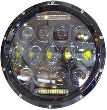 7 inch 75W Headlight High Low Beam CE/Rohs LED Work Light Daytime Running Light For Jeep Wrangler Harley UTV Jeep Wrangler Truck