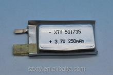 CE/rohs certificato batteria ricaricabile ai polimeri di litio lipo 3.7v 062030