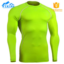 Dry Fit Men's Custom Fitness Skin Compression Wear,Fitness wear,Compression t Shirt(LCP-YXGreen)