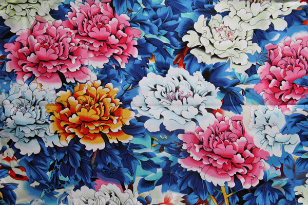 Manufacturer good quality white floral printed bed sheet 100% cotton fabric