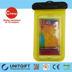 2015 Hot Sales 100% Seal PVC phone waterproof bag/plastic waterproof case