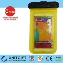2015 Hot Sales 100% Seal PVC phone waterproof bag/plastic waterproof case