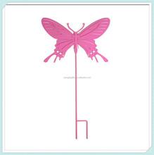 Flying butterfly silhouette Metal yard art wrought iron garden stake