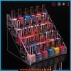 5 tiers 30 bottles counter top clear acrylic nail polish display stand