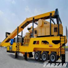 Large capacity combined mobile crusher for complete gravel production line