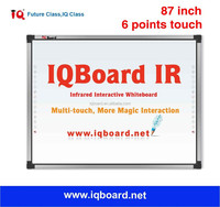 """IQBoard IR 87"""" 6 points touch interactive whiteboard smart board touch board"""
