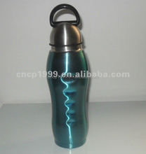 BPA free 800ML single wall stainless steel water bottle with plastic sipper straw cap
