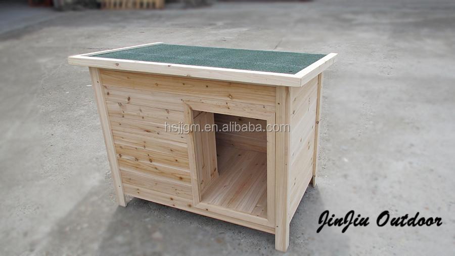 outdoor wooden dog house cage