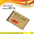 Especias de teléfono de la célula de la batería de oro bp-3l bp3l de la batería para nokia 610c/710