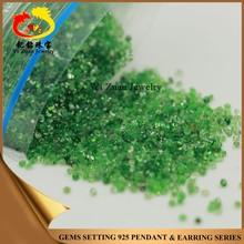 Large reserve round shape diamond cut natural green garnet quartz