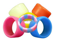 2015 Stylish colorful custom sport mens designer silicone finger rings