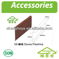 Popular Stone Coated Metal Roof Accessoies Eaves Flashing
