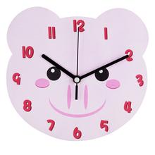Nuevo diseño 2015 MDF forma animal lindo reloj de pared para niños dormitorio