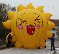 2015 19ft/6m/600cm high standing inflatable sunflower balloon/yellow/inflatable hot air balloon for advertising/event W413