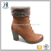 Austrilian winter sheep wool fur boots warm half ankle boots