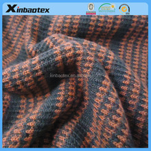 winter wear fabric sweater knit fabric bonded with polar fleece for winter wear
