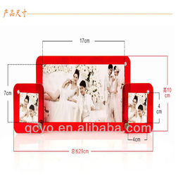Acrylic photo frame magnet picture frame soft Rubber frame