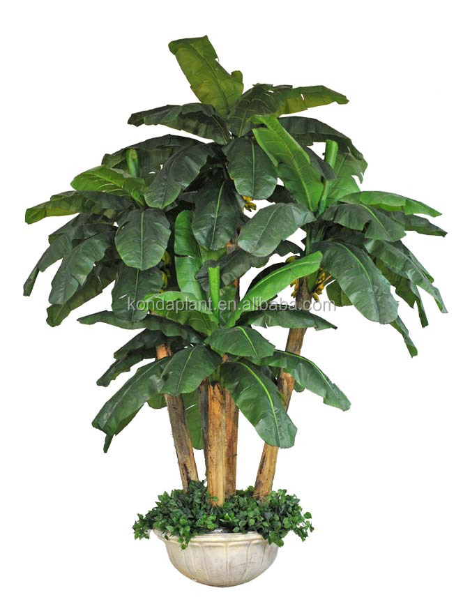 Cheap bonsai artificial plastic banana for Artificial plants for decoration