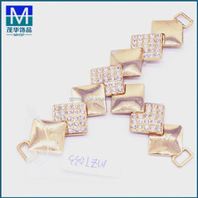 MZT033 New T shape accessories metal shoe buckle rhinestones decoration for shoes