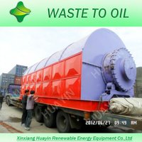 HUAYIN Pyrolysis Oil Refine Machine Tyre/Plastic Recycling TO Diesel Plant