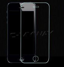 Round Angle Factory price Mobile accessories Colorful Glod 0.2mm For Iphone 5/5c/5g/5s Tempered Glass Screen Protector