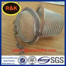 Stainless steel wire mesh tea strainer basket
