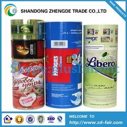 Plastic Film PET,CPP, OPP, PE,AL Food Packaging Roll