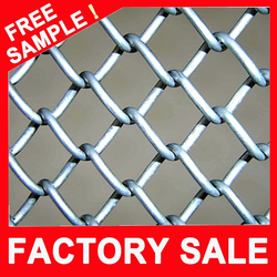 Low price hot dipped galvanized fence chain link/ chain link fence