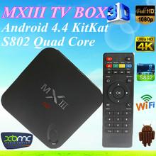 Promotional amlogic s802 quad core MXIII real tv box btv shava tv jadoo tv iptv box indian channels