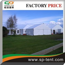 Second hand Garden party marquee tent manufacturer china with clear pvc windows 15x35m