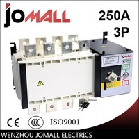 wenzhou hot sale manufactory 250amp 4 pole 3 phase automatic transfer switch ats