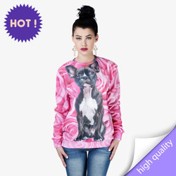 Cotton sweatshirt blouse full print - ROSE DOG size L M - fancy and trendy designs