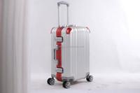 universal wheels aluminum luggage / 360 degree / swivel caster luggage