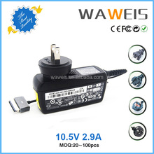 Ac dc power supply 10.5v 2.9a charger replaceable plug adapter for Sony tablet pc